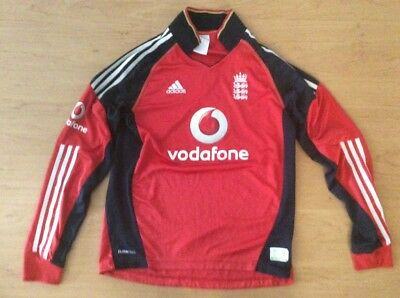 cricket England one day shirt long sleeve size small adults