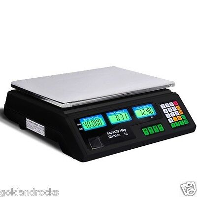 NEW Digital Display Weight Calculator Computing Scale for Retail Shop Office