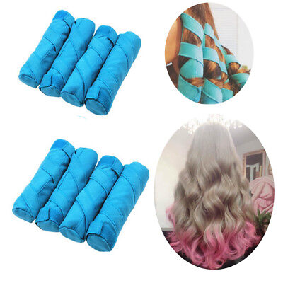 """8PCS The Sleep Styler For Long Hair NIP 8 Rollers Curlers 6"""" + Silicone Sponge"""