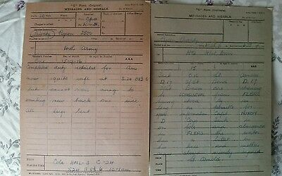 Copy Ww1 Somme 2X Pigeon Messages Sent From Tanks 15/9/1916