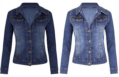 HOT Women Ladies Ripped Denim Oversize Vintage Jeans Jacket Boyfriend Loose Coat