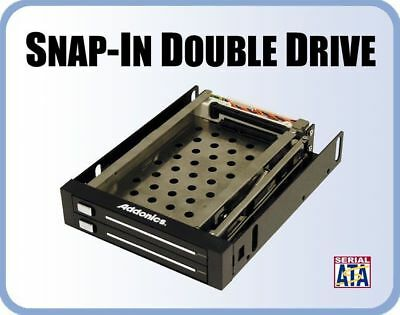 "Addonics Dual Snap-In Mobile Rack - 2xSATA Interface, To Suit 2x2.5""SATA HDD"