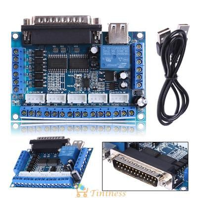 MACH3 CNC Stepping Motor Driver Interface Adapter Breakout Board & USB Cable UK
