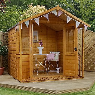 7x7 Wooden Bournemouth Shiplap T&G Summer house with Apex Roof & Felt