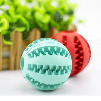 Training Toy Rubber Dog Play Ball Chew Bite Resistance Dogs Teething Cleaning