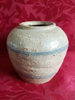 Antique Small Chinese Early Ming Jar . Chinese Pot