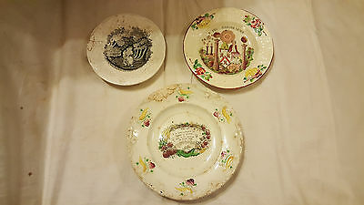 Three Early 19th Century Staffordshire Pearlware Transfer Plates
