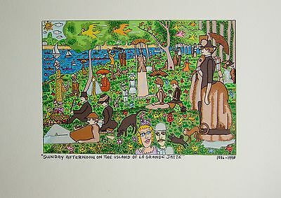 James Rizzi Sunday Afternoon on the Island of la grande Jalte - Farblithografie