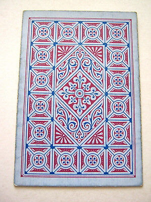Antique Playing Cards 1 Single Swap Square Corner No Indice Aesthetic Style 1870