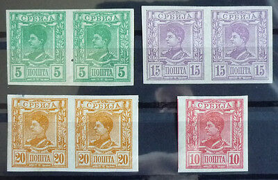 1890 Serbia - Imperforated Stamps - Nice Lot R!