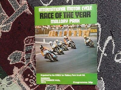 1975 Mallory Park Programme 14/9/75 - International Race Of The Year
