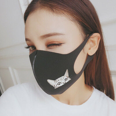 Unisex Summer Winter Mouth Mask Black Mouth Face Mask Anti-Dust Respirator Gift