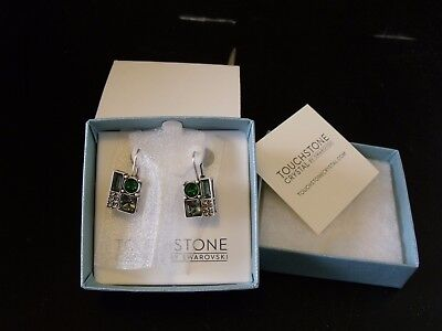 Touchstone Crystal By Swarovski Forest Earrings 1066E (New In Box)