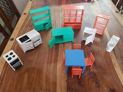 Ikea dolls house furniture kitchen bathroom dining room