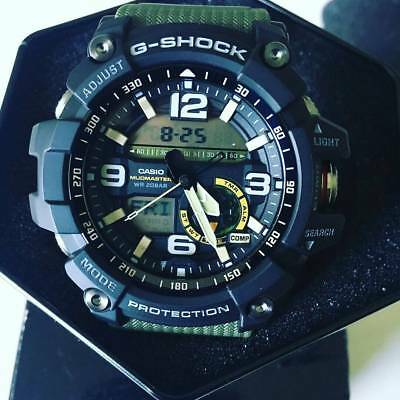 New Casio G-Shock Gg1000-1A3 Mudmaster Twin Sensor Green Thermometer Men's Watch