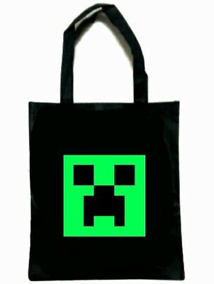 Minecraft Bag Halloween Trick Or Treat Black For Costume New Creeper 2 Designs