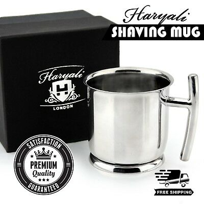 Stainless Steel Made Shaving Soap Bowl with Lid. Perfect to keep Your Soap Safe.