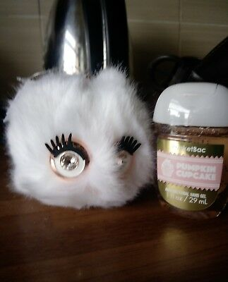 Bath & body works girly fluffy owl hand sanitiser holder & Pumpkin cupcake bac