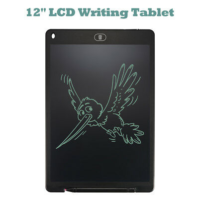 12 Inch LCD Writing Tablet Pad e-Writer Drawing Memo Message Notice Board AH351
