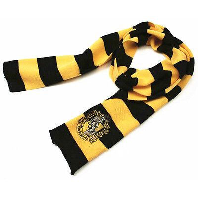Costume Harry Potter Hufflepuff House Cosplay Scarves Warm Wool Knit Scarf Wraps