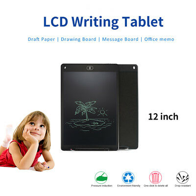 """12"""" LCD Writing Pad Electronic Drawing Tablet Memo Message Graphics Board AH351"""