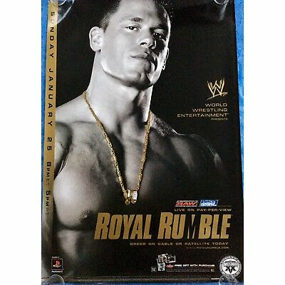 Official Rare WWE Royal Rumble 2004 Pay-Per-View PPV Promo POSTER feat John Cena
