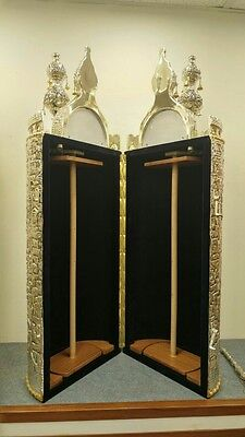 Beautiful Case for Torah scroll Hand carved in the shape of The stones of Jerusa