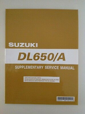 Manuale Supplementare Supplementary service manual inglese Suzuki DL 650/A 2006