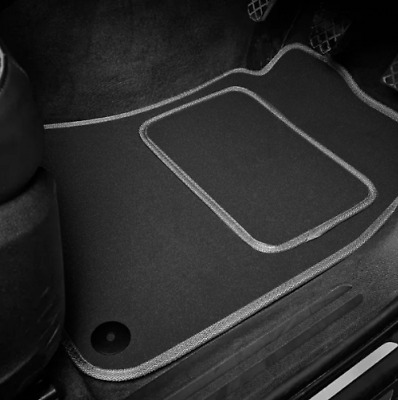 High Quality Car Floor Mats Set In Black/Grey To Fit Hyundai Amica (1997-2007)