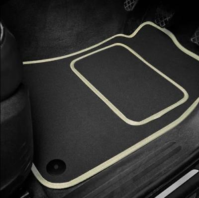 High Quality Car Floor Mats Set In Black/Beige To Fit Hyundai Amica (1997-2007)