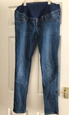 Woman's H&M Blue Skinny Maternity Jeans Size 16