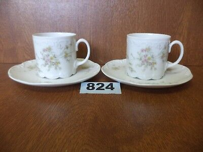 Rosenthal Classic Rose CATHERINE - Pair of Coffee Cups / Cans & Saucers