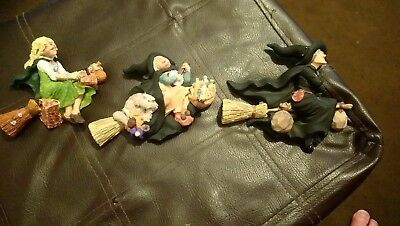 Clarecraft Discworld DW51 DW52 DW53 witches on broomsticks no boxes or tent card