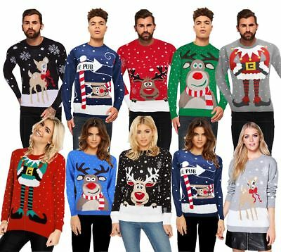 Christmas Xmas Unisex Jumper Sweater Retro Novelty Ladies Mens Plus Sizes New
