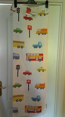 George Asda Boys Girls Transport Car Bus Taxi Lorry Truck Bedroom White Curtains