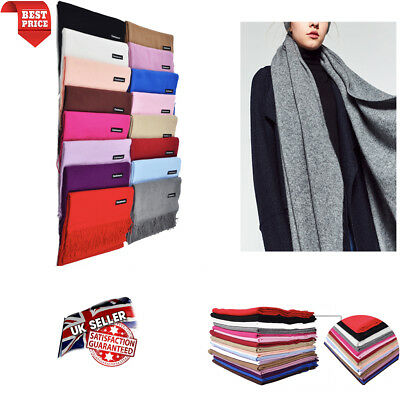 Winter Warm Scarf Shawl Pashmina Soft Tassel Shawl Neck Wrap Plaid Scarf Womens