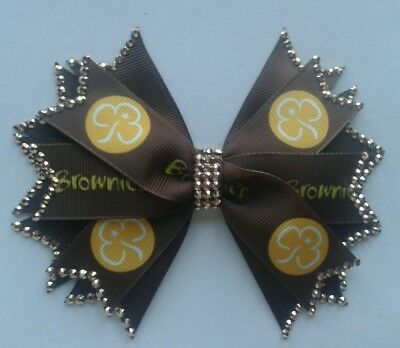 Brownies Sparkly Hair Clip To Match Uniform 5 inches