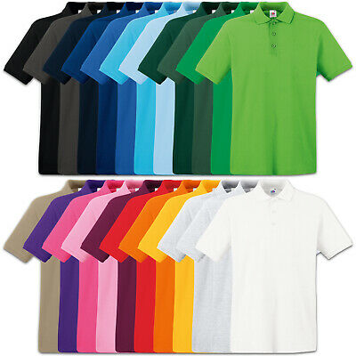 2er Fruit of the Loom Premium Poloshirt S M L XL XXL XXXL 100% Baumwolle Shirts