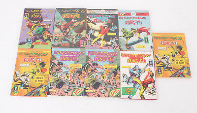RICHARD DRAGON Combattant du kung fu - Lot de 9 BD COMICS Pocket - Artima