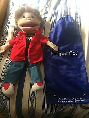 "Rare Puppet Company large 24"" hand puppet Boy Buddy fair  school with bag"