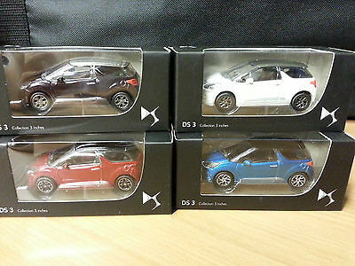 Genuine Citroen DS3 Model Cars Burgandy/White/Red/Blue - CAMC019479