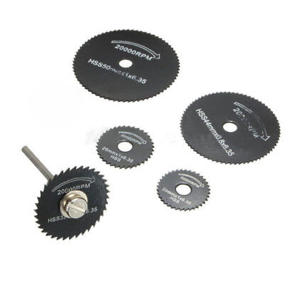 6pcs HSS Metal Circular Saw Disc Wheel Blades Cut off Dremel Drill Rotary Tool E
