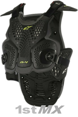 Alpinestars A4 Chest Protector Armour For Neck Braces Anthracite XLarge XXLarge