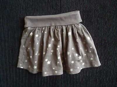 Baby clothes GIRL 9-12m NEXT soft cotton grey star skirt elasticated waist SHOP!