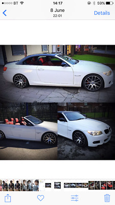 61 plate Bmw 320 M sport convertible UPGRADED TO 335 STYLE full Service history
