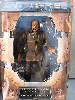 STAR TREK ENTERPRISE Captain Nausicaan  Art Asylum NEU OVP RARITÄT