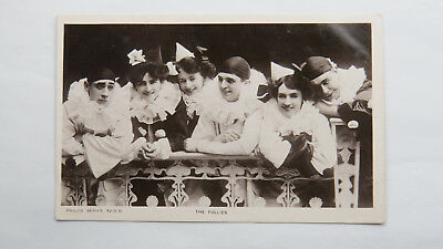 1900s Vintage Postcard The Follies Music Hall Variety Act Theatre Pierrot Circus