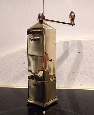 Molino de Cafe bronce/laton Jan Eisenlöffel 1902 Lenhartz Antique coffee grinder
