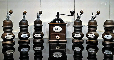 Molinillo de café, Pimienta........ Set firma ZASSENHAUS  Antique Coffee Grinder