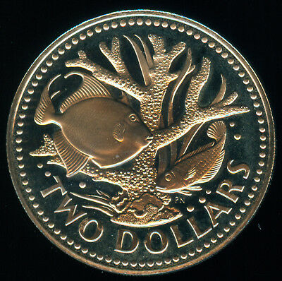 Low Mintage 1976 Barbados Independence Proof 2 Dollars